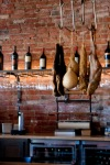 Charcuterie hanging at the bar